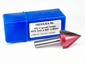 HQ V-groef frees Ø22 mm x 60° x 8mm
