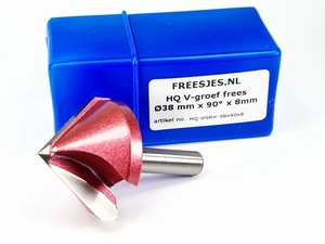 HQ V-groef frees Ø38 mm x 90° x 8mm