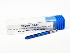 VHM nACo freesje 3,175 mm met diamantvertanding