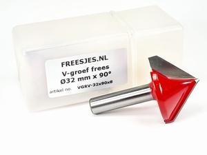 V-groef frees Ø32 mm x 90° x 8mm