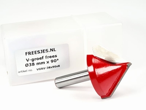 V-groef frees Ø38 mm x 90° x 8mm