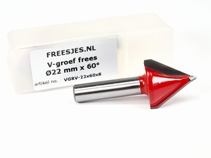 V-groef frees Ø22 mm x 60°