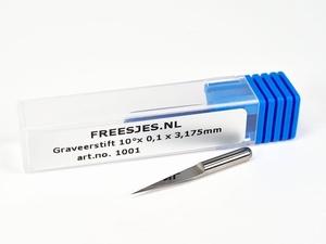 Graveerstift 10°x 0,1 x 3,175mm
