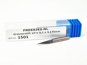 Graveerstift 15°x 0,1 x 3,175mm