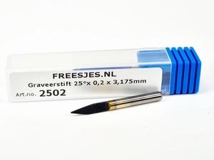 Graveerstift 25°x 0,2 x 3,175mm