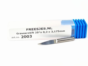 Graveerstift 20°x 0,3 x 3,175mm