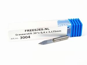 Graveerstift 30°x 0,4 x 3,175mm