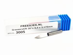 Graveerstift 30°x 0,5 x 3,175mm