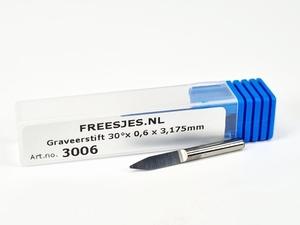 Graveerstift 30°x 0,6 x 3,175mm