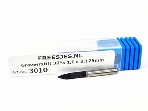 Graveerstift 30°x 1,0 x 3,175mm