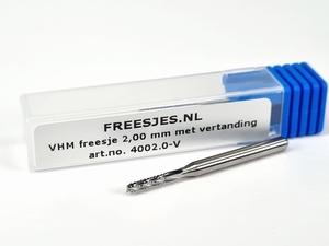 VHM freesje 2,00 mm met diamantvertanding